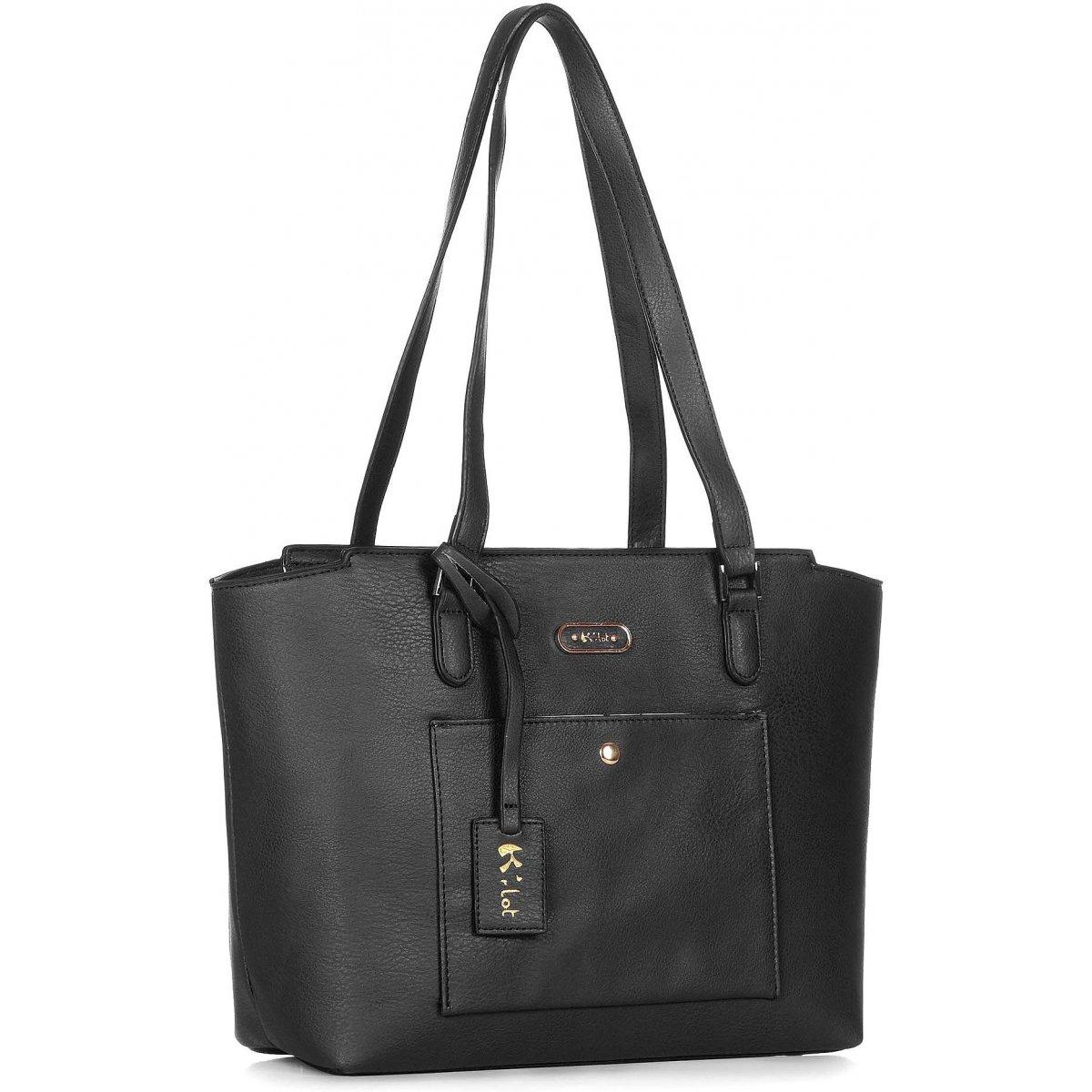 Sac main les sacs de krlot fkg0003 couleur noir promotion - Sac de ciment pas cher ...
