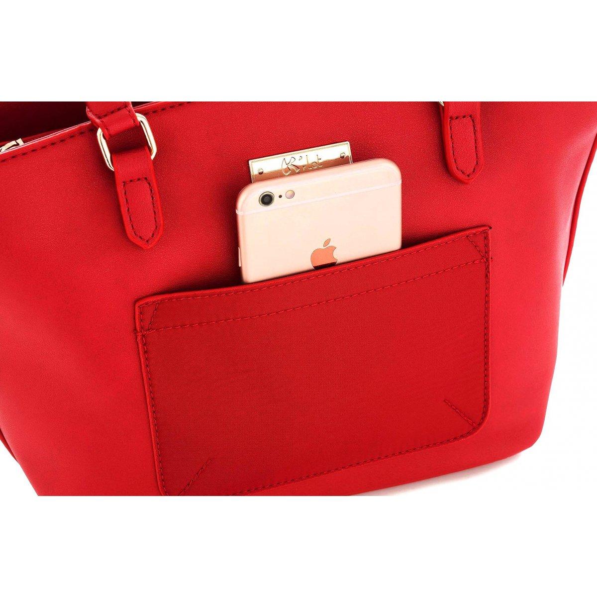 sac main les sacs de krlot fkg0011 couleur principale rouge promotion. Black Bedroom Furniture Sets. Home Design Ideas
