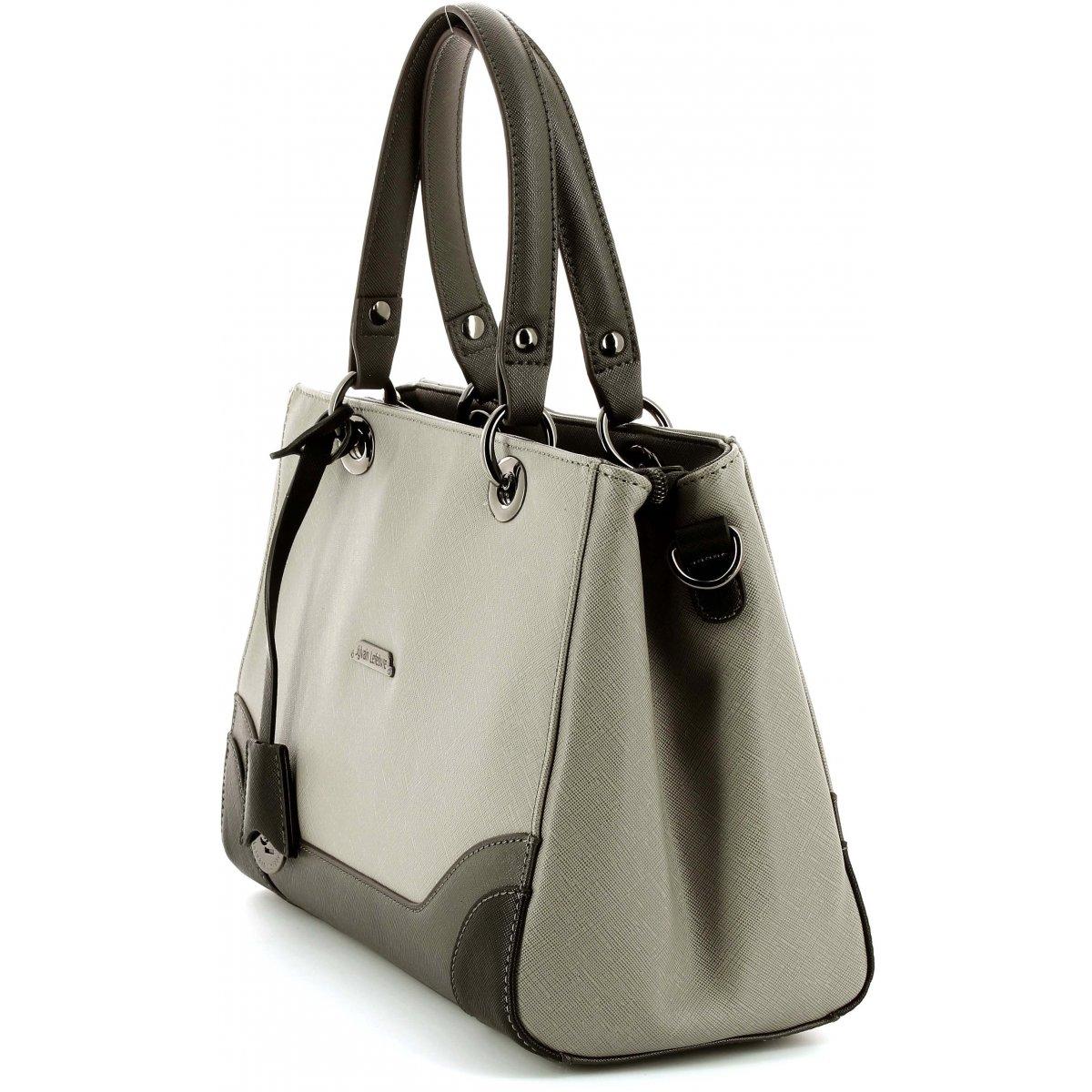 sac main sylvain lefebvre sl644519 couleur gris fonce marron clair. Black Bedroom Furniture Sets. Home Design Ideas