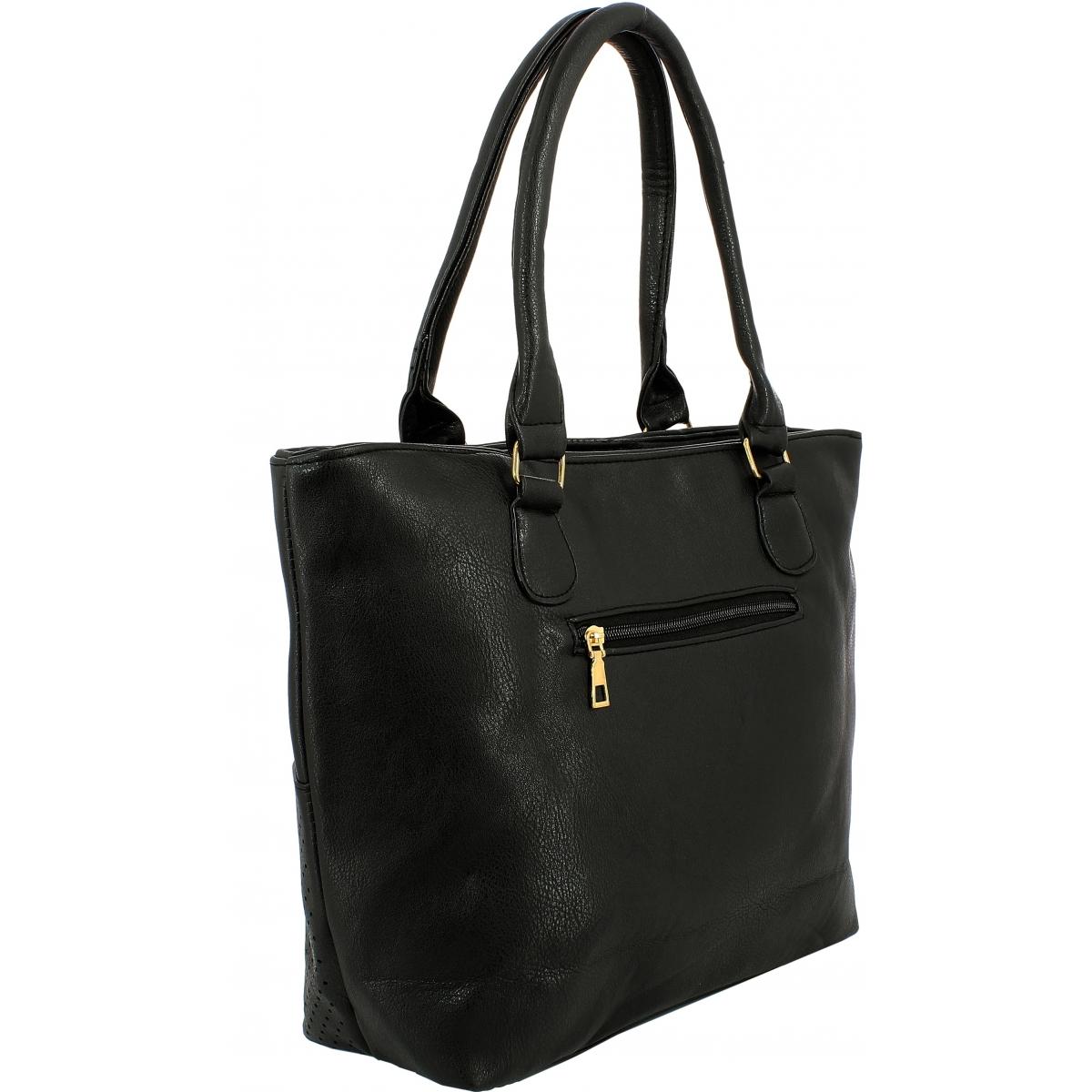 sac main shopping krlot taille l fkg0338 couleur principale noir solde. Black Bedroom Furniture Sets. Home Design Ideas