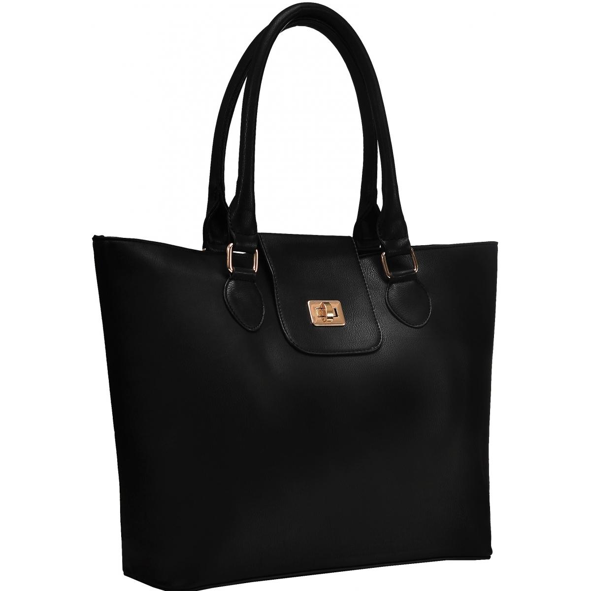 sac main shopping krlot taille l fkg0300 couleur principale black promotion. Black Bedroom Furniture Sets. Home Design Ideas