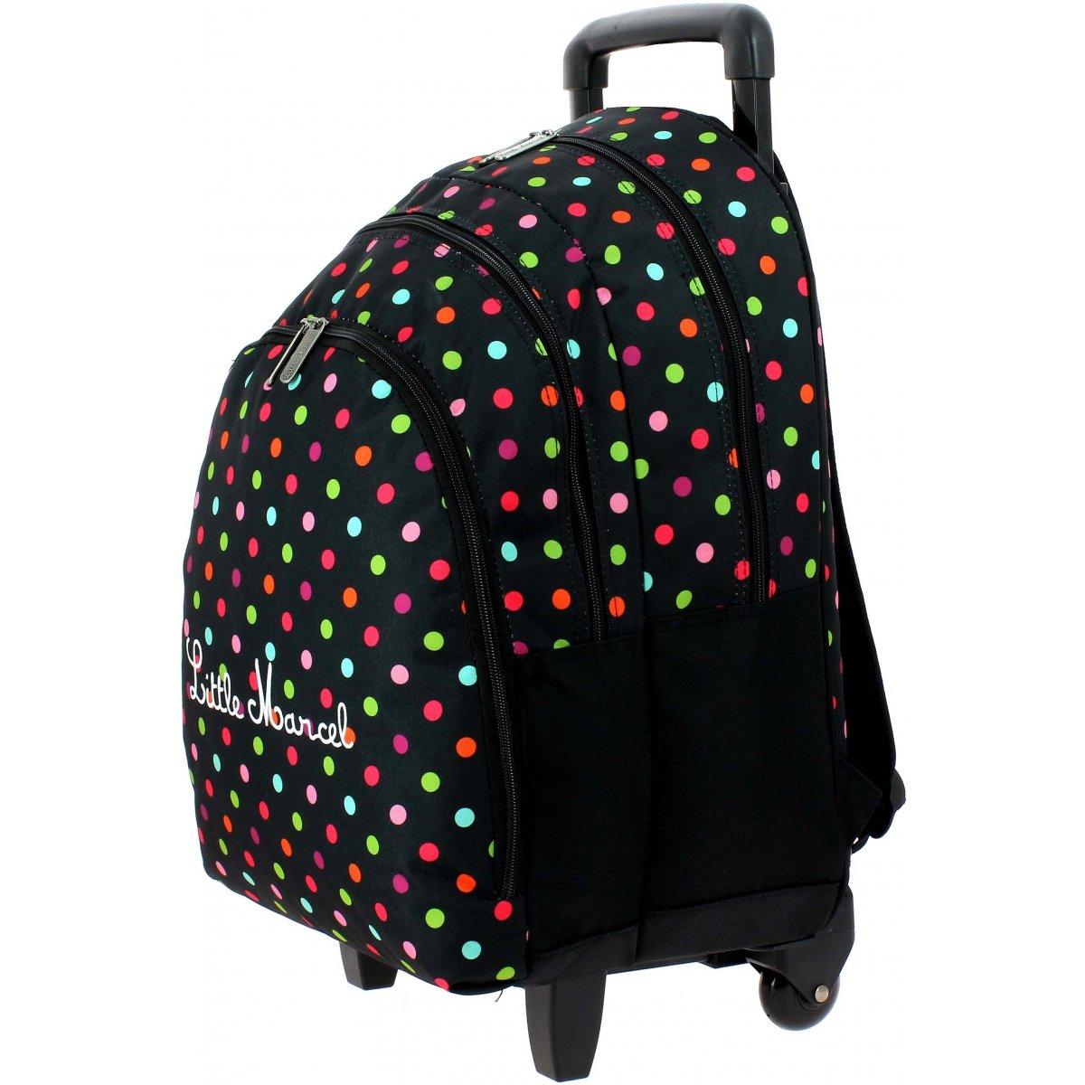 sac dos scolaire roulettes little marcel rimbau229. Black Bedroom Furniture Sets. Home Design Ideas