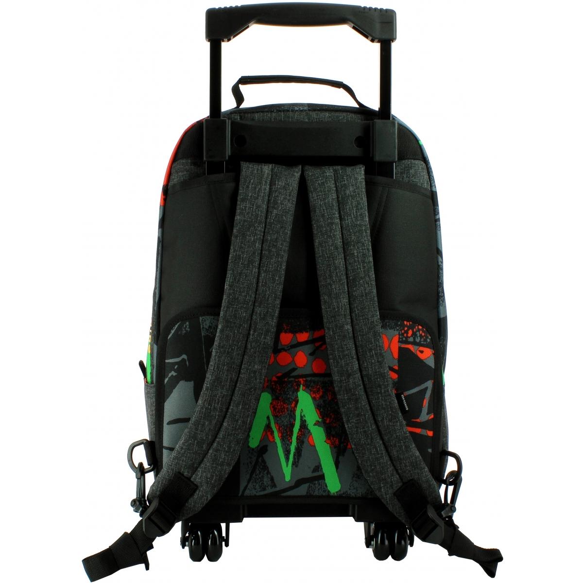 sac dos scolaire roulettes quiksilver p03022ggy6 couleur principale assortis promotion. Black Bedroom Furniture Sets. Home Design Ideas