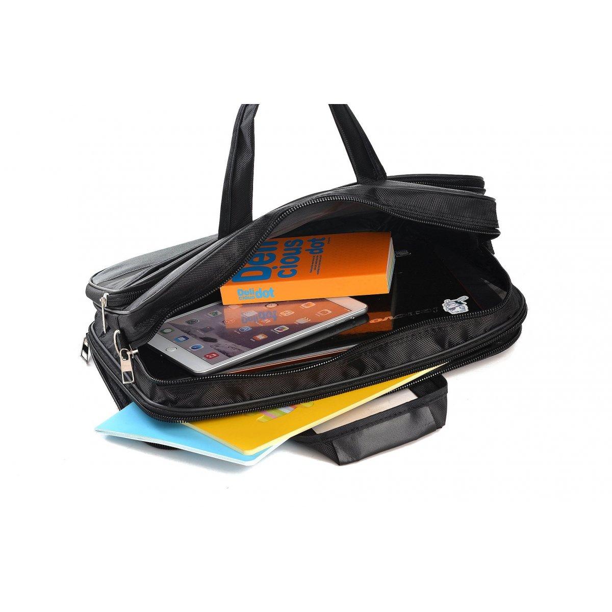 Serviette porte ordinateur les sacs de k 39 rlot hk161002 couleur principale noir - Porte serviette pas cher ...
