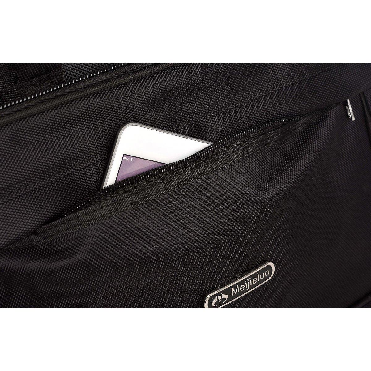 Serviette porte ordinateur extensible les sacs de k 39 rlot hk161008 couleur principale noir for Serviette descamps pas cher