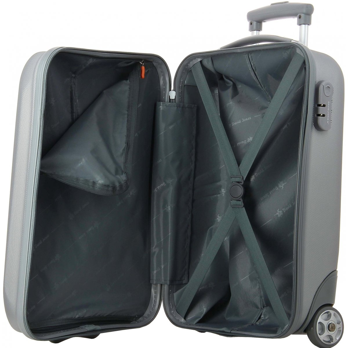 valise cabine ryanair david jones ba10021 couleur principale silver solde. Black Bedroom Furniture Sets. Home Design Ideas