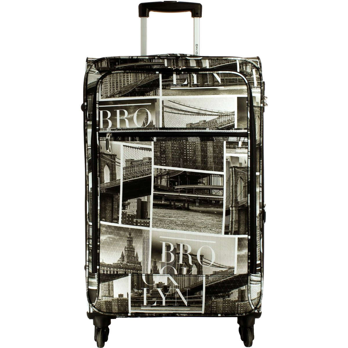 valise souple david jones taille m 66cm ba50271m couleur principale brooklyn solde. Black Bedroom Furniture Sets. Home Design Ideas