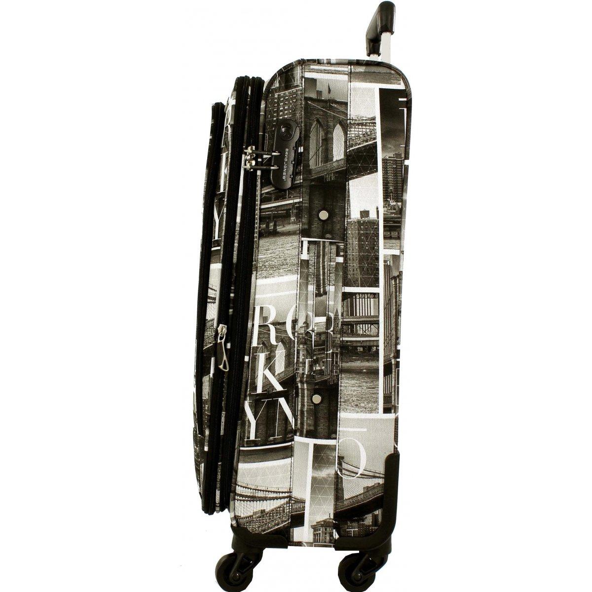 valise souple david jones taille m 66cm ba50271m couleur principale brooklyn solde. Black Bedroom Furniture Sets. Home Design Ideas