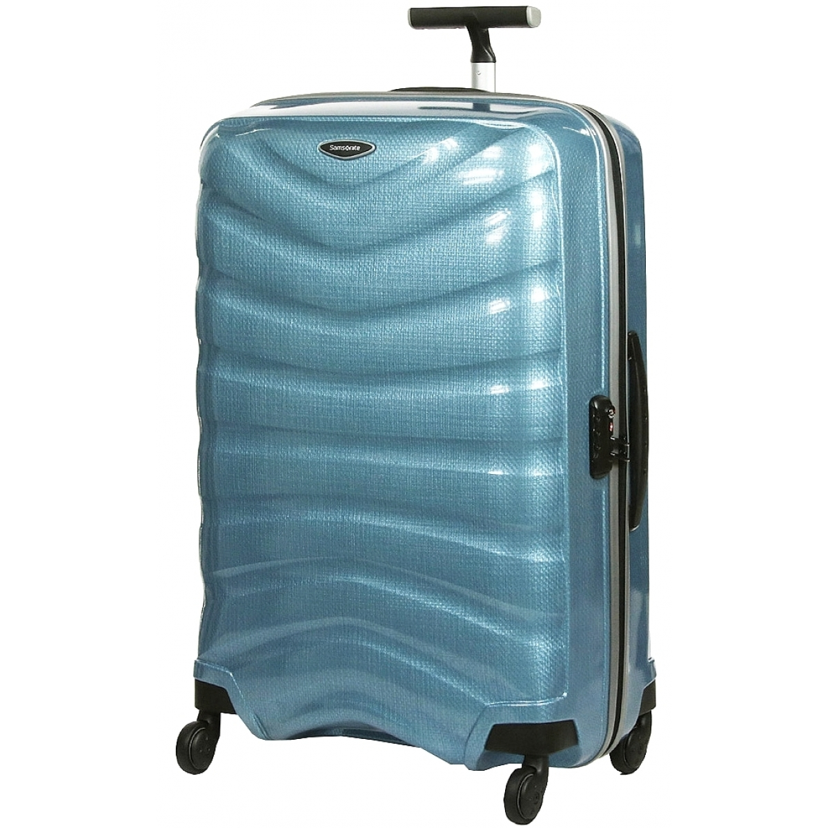 valise samsonite firelite spinner 81 cm firelite62 couleur principale sly blue promotion. Black Bedroom Furniture Sets. Home Design Ideas