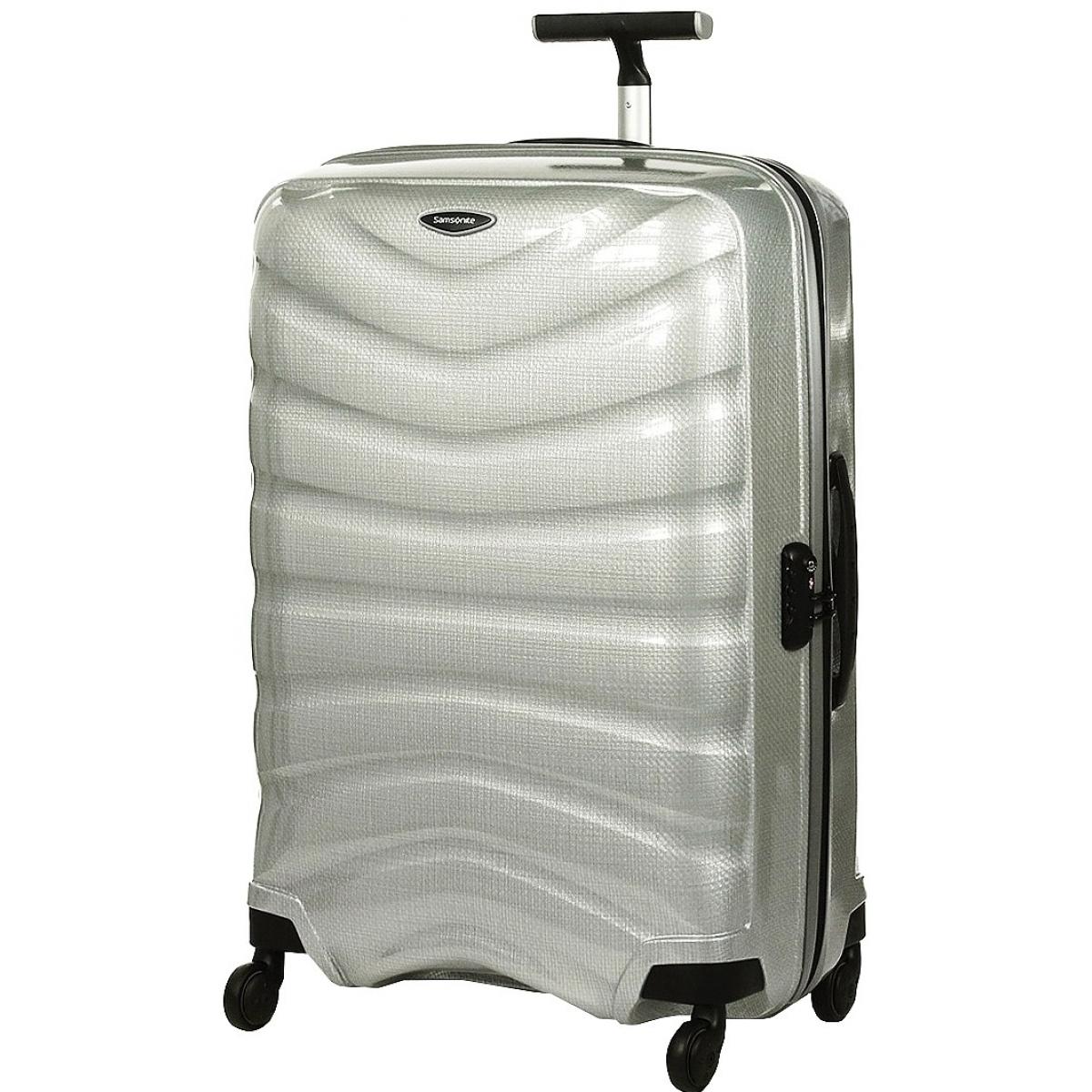 valise samsonite firelite spinner 75cm firelite61 couleur principale silver promotion. Black Bedroom Furniture Sets. Home Design Ideas