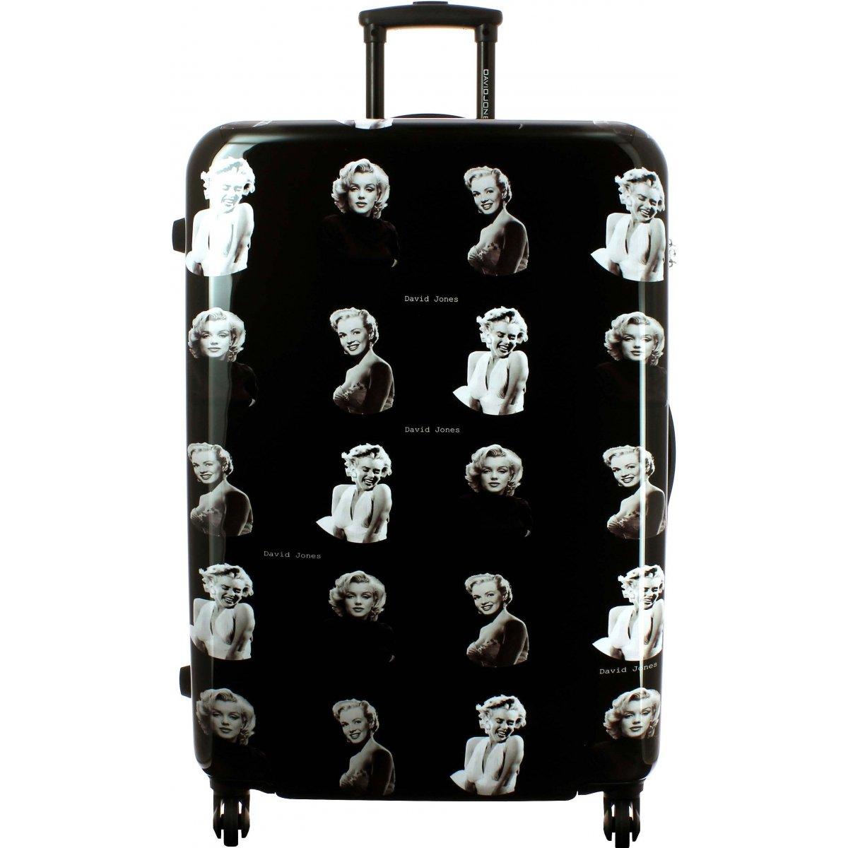 valise rigide david jones taille g 75cm ba20531g couleur principale marilyn monroe. Black Bedroom Furniture Sets. Home Design Ideas