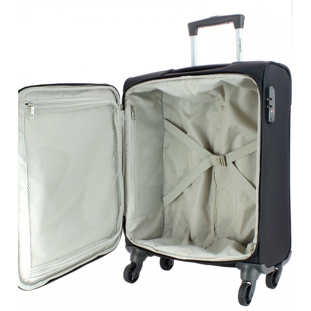 valise cabine samsonite ncs auva 55cm ncsauva20 couleur principale noir solde. Black Bedroom Furniture Sets. Home Design Ideas