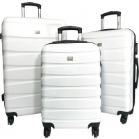 Lot 3 Valises Rigides dont 1 Valise Cabine Cactus ABS