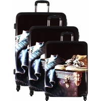 Lot 3 Valises Rigides dont 1 Valise Cabine David Jones ABS/Poly