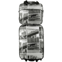 Lot Valise Cabine et Reporter Souple David Jones Polyester