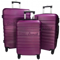Lot 3 Valises Rigides dont 1 Valise Cabine Little Marcel ABS