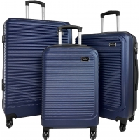 Lot de 3 Valises Rigides dont 1 Valise Cabine Little Marcel ABS