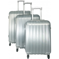 Lot 3 valises dont 1 valise cabine David Jones - Gris