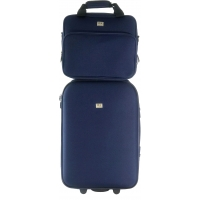 Lot Valise Cabine et Reporter Souple David Jones