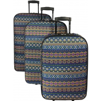 Lot 3 Valises Souples dont 1 Cabine David Jones Polyester
