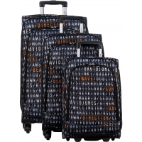Lot de 3 valises dont une valise cabine David Jones
