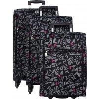 Lot de 3 valises LILOU SECRET