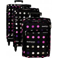 Lot de 3 valises dont 1 valise cabine Ryanair David Jones