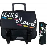 Cartable Scolaire à roulettes & trousse offerte Little Marcel
