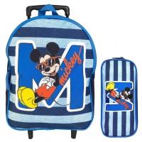 Sac à dos à roulettes enfant & trousse offerte DISNEY Mickey