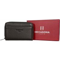 Porte cartes cuir de vachette RFID Siglé Hexagona