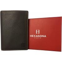 Portefeuille cuir de vachette Hexagona