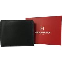 Portefeuille cuir de vachette RIF Hexagona