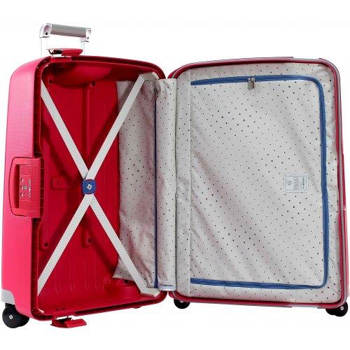 valise samsonite s cure spinner 69 cm scure07 couleur principale rose clair promotion. Black Bedroom Furniture Sets. Home Design Ideas