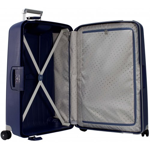 valise samsonite s 39 cure spinner 75 cm scure08 couleur principale bleu fonce promotion. Black Bedroom Furniture Sets. Home Design Ideas