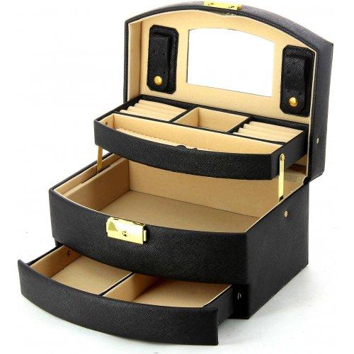 coffret bijoux bleucerise w008 couleur principale noir promotion. Black Bedroom Furniture Sets. Home Design Ideas