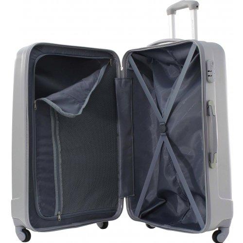 lot 3 valises dont 1 cabine david jones ba10113 couleur principale silver solde. Black Bedroom Furniture Sets. Home Design Ideas