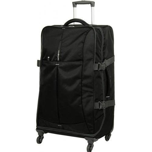 valise souple samsonite 4mation polyester 77cm grande taille 4mation94 noir couleur. Black Bedroom Furniture Sets. Home Design Ideas