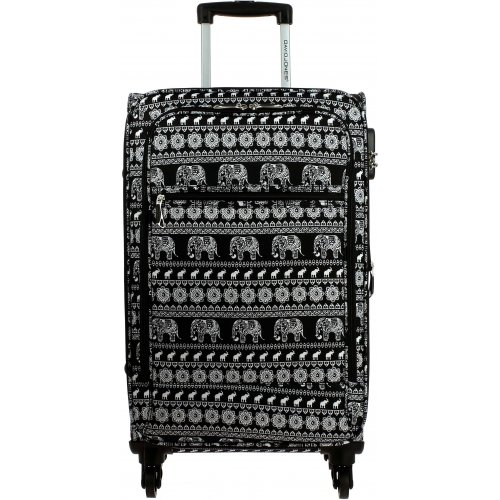 valise souple david jones 76cm ba50331g couleur principale elephant promotion. Black Bedroom Furniture Sets. Home Design Ideas
