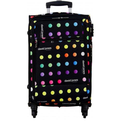 valise souple david jones taille m 66cm ba50171m couleur principale little pois promotion. Black Bedroom Furniture Sets. Home Design Ideas