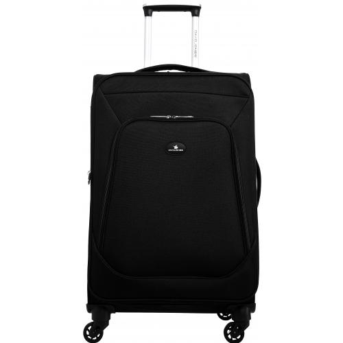 valise souple extensible david jones 67 cm taille m ba50301m couleur principale noir. Black Bedroom Furniture Sets. Home Design Ideas