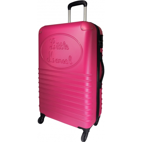 valise rigide little marcel grande taille fushia ba10221g couleur principale fushia. Black Bedroom Furniture Sets. Home Design Ideas