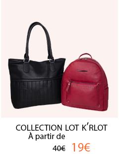 Lot de 2 sac à main Krlot